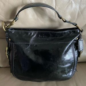 Authentic Coach Zoe Hobo Patent Leather Bag!